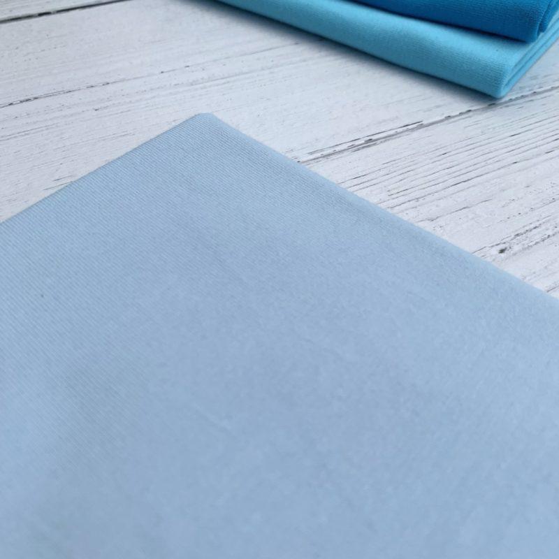Baby Blue Cotton Lycra Jersey Knit Fabric