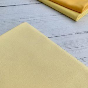 Lemon Yellow Cotton Lycra Jersey Knit Fabric