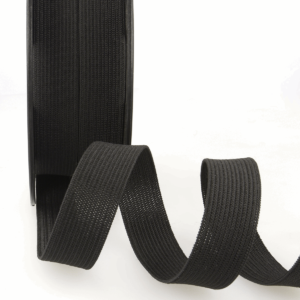 Black 15mm Ribbon Elastic