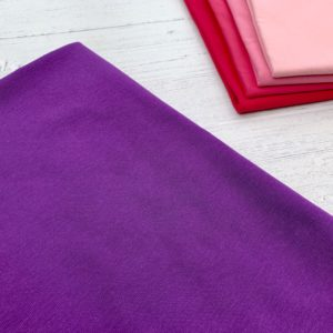 Purple Cotton Lycra Jersey Knit Fabric