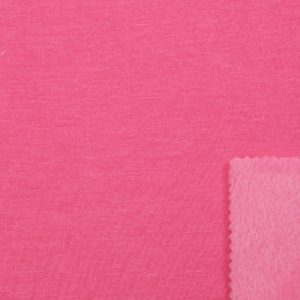 Pink Alpine Fleece Stretch Sweat Fabric