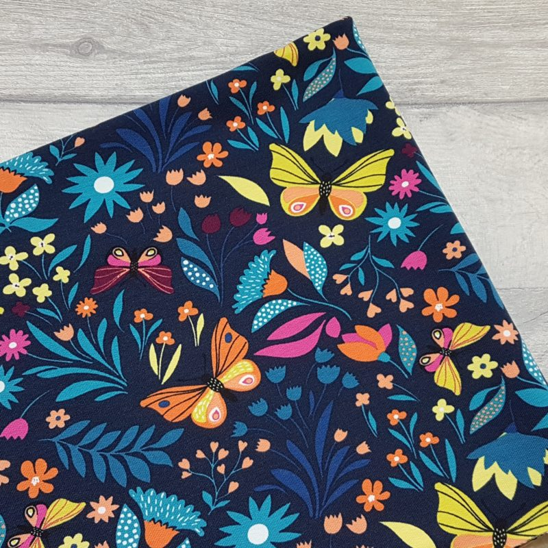 Vibrant Butterfly French Terry