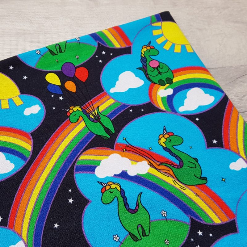 WHOLESALE Caboodle Textiles Exclusive Dinocorn Rainbows Organic Jersey