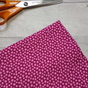 Irregular Spots Pink Organic Cotton Lycra Jersey Knit Fabric