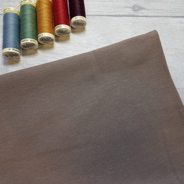 Light Brown Bamboo Jersey Fabric